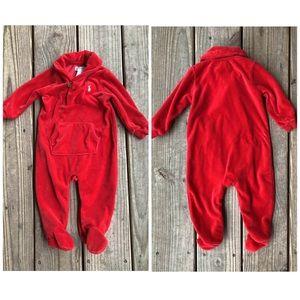 Ralph Lauren Velvet Jumpsuit Body Suit Romper Baby